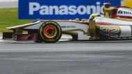 Kaum Sponsoren, kein Erfolg: Das spanische Team HRT mit seinem spanischen Piloten Pedro de la Rosa