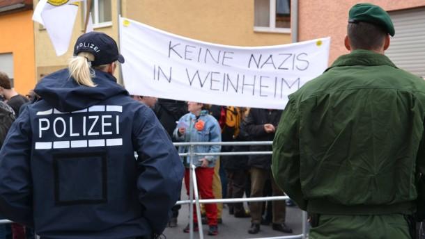 NPD-Bundesparteitag Weinheim