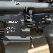 Ein Gewehr des Waffenherstellers Haenel auf einer Fachmesse für Jagd, Schießsport, Outdoor und Sicherheit im Jahr 2019.