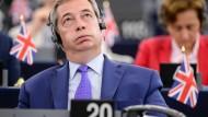 Der Brexit-Befürworter und ehemalige Ukip-Chef Nigel Farage hat im EU-Parlament im Moment nicht viel Freude.