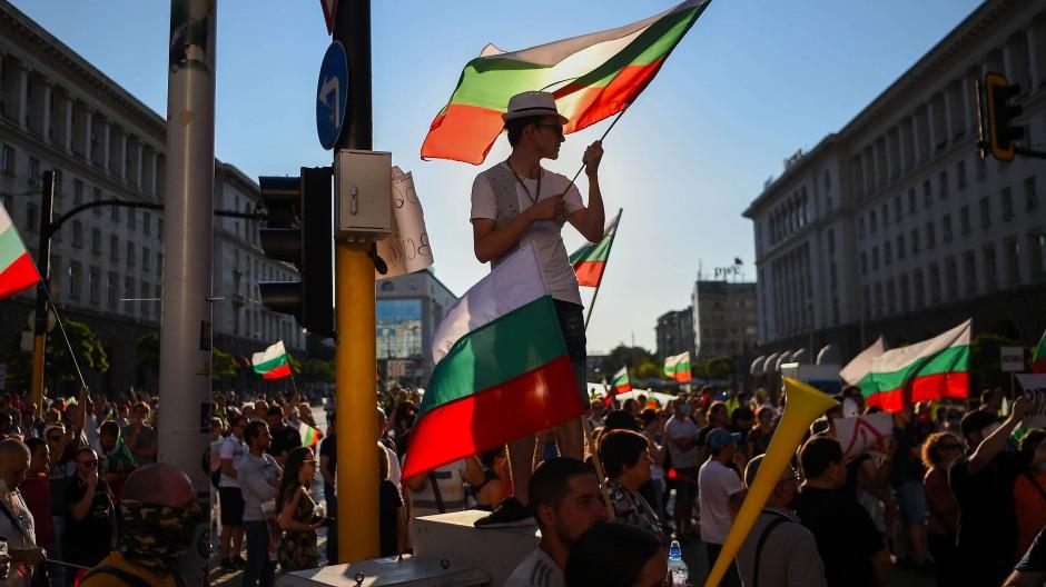 Die Korruption leid: Demonstranten am Mittwoch in der bulgarischen Hauptstadt Sofia.
