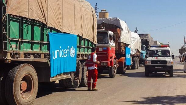 Tote bei Luftangriff auf UN-Hilfskonvoi