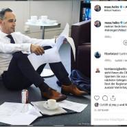 Hart am Arbeiten, und die Kommentatoren schimpfen trotzdem: Heiko Maas auf Instagram
