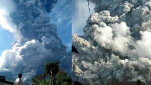 7 Kilometer hohe Aschewolke auf Sumatra