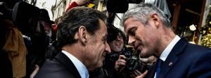 Bald im Bündnis mit dem Front National? Nicolas Sarkozy und Laurent Wauquiez  am vergangenen Freitag in Lyon
