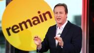 Er will drin bleiben in der EU: Premierminister David Cameron