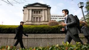 Warten auf die Bank von Japan