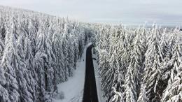 Schnee behindert Moderna-Verteilung
