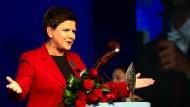 Konservativ und preisgekrönt: Premierministerin Beata Szydlo von der Partei Recht und Gerechtigkeit (PiS) in Krynica