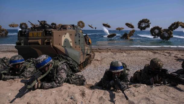 Amerika und Südkorea proben Sturm auf Nordkorea