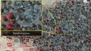 Satellitenbilder zeigen Zerstörung einer Stadt durch Boko Haram