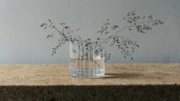 Pinselstrich auf Kristallglas