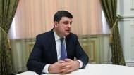 Mit damals 38 Jahren wurde Hrojsman am 14. April 2016 zum jüngsten Ministerpräsident in der Geschichte der Ukraine gewählt.