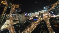 Berlin aus der Luft: Unser Bild zeigt den Weihnachtsmarkt auf dem Breitscheidplatz