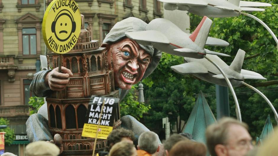 Auch in Mainz wird seit Monaten gegen erhöhten Fluglärm protestiert