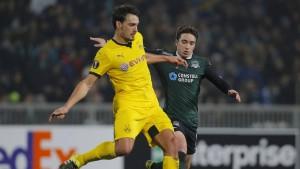Dortmund gibt Tabellenführung ab