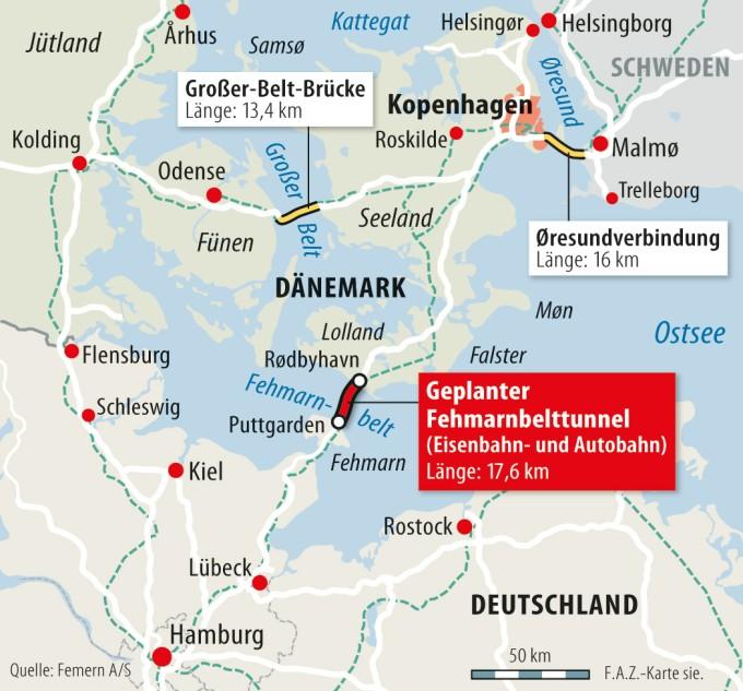 Fehmarn Karte Ostsee.Neuer Tunnel Soll Fehmarn Mit Danemark Verbinden