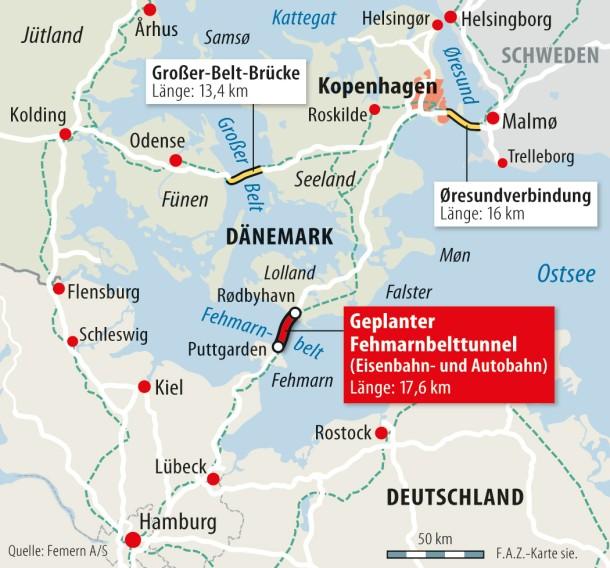 Karte Schweden Dänemark Deutschland.Bilderstrecke Zu Neuer Tunnel Soll Fehmarn Mit Dänemark Verbinden