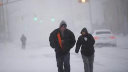 Eis und Schnee legen Amerikas Ostküste lahm