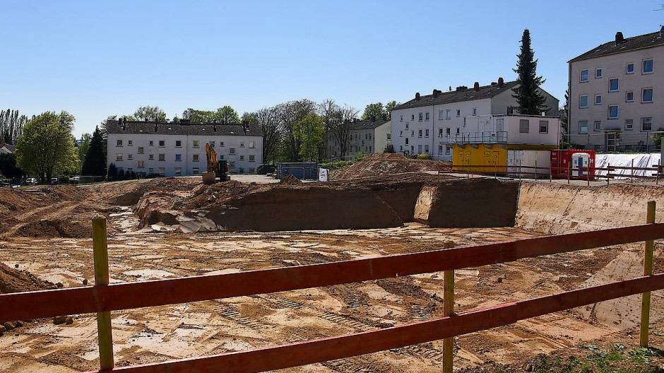 Ein Quartier wächst: In Wiesbaden-Schierstein entstehen rund 265 Wohnungen an der Hermann-Löns-Straße.