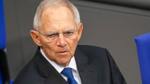 Schäuble mahnt zu Verzicht wegen Klimaschutz