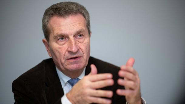 Günther Oettinger geht zu Herrenknecht