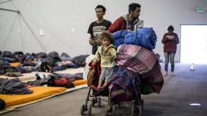 Migranten-Karawane erreicht amerikanische Grenze