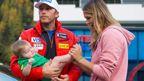 Bode Miller mit Baby und Motivation