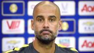 Pep Guardiola will nur fitte Spieler