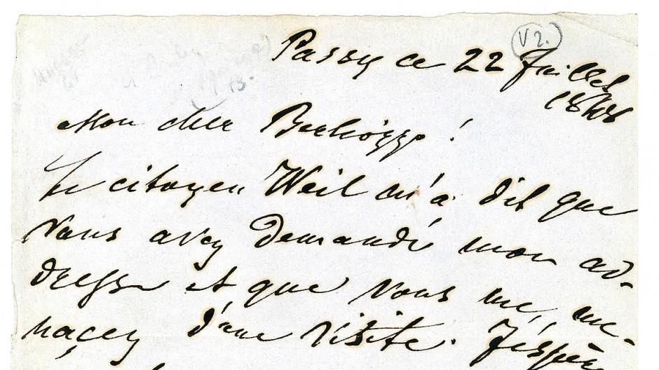 Zwischen den Waffen des Bürgerkriegs schweigen die Musen: Heinrich Heine schreibt an Hector Berlioz in einem Geschichtsmoment ohne Musik.