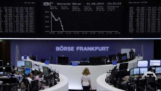 Abverkauf am deutschen Aktienmarkt