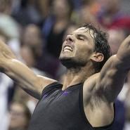 Mit großen Schritten in Richtung Finale: Tennis-Star Rafael Nadal bei den US Open
