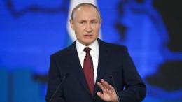 Putin droht den Vereinigten Staaten