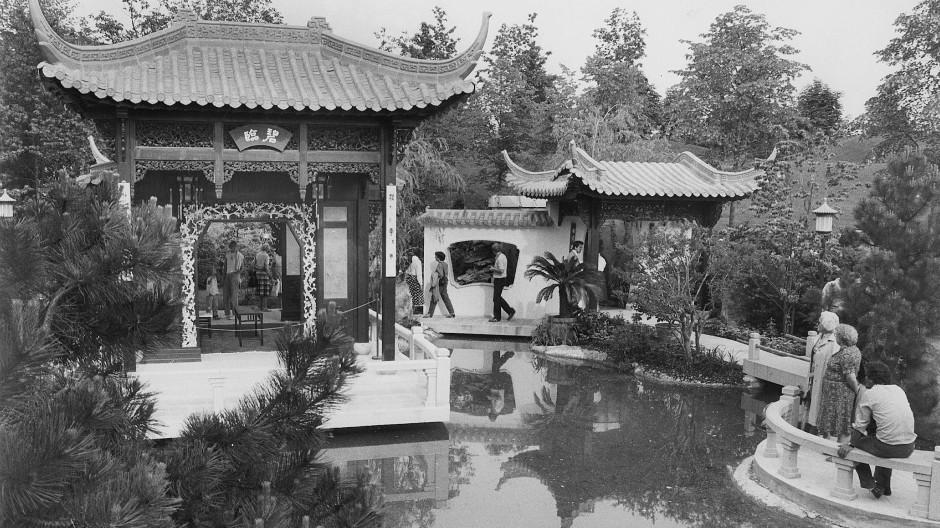 Iga 1983: Chinesischer Garten in München.
