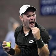 Großer Jubel beim deutschen Tennisprofi Dominik Köpfer