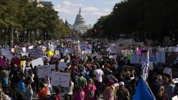 Proteste gegen Trumps Kandidatin für Supreme Court