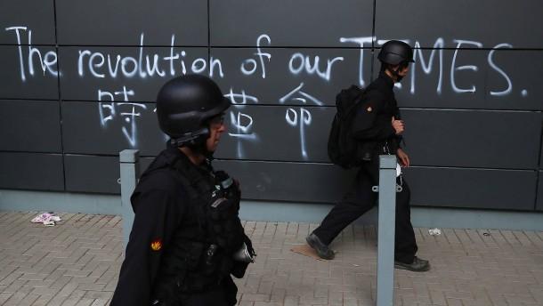 """Peking erzürnt wegen Unterstützung für """"gewalttätige Kriminelle"""""""