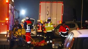 Sechs Tote bei Karambolage auf der A7