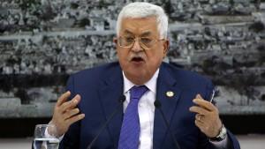 Abbas: Palästinenser setzen Abkommen mit Israel aus