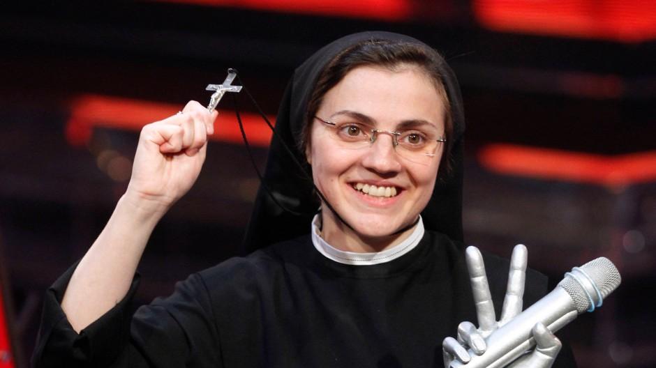 """Cristina Scuccia gewinnt das Finale von """"The Voice"""" in Italien."""