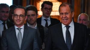 """Maas will """"ehrlichen Dialog"""" mit Russland"""