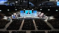 Aktionärstreffen von Siemens: Jede Aktie bringt 3,30 Euro Dividende.
