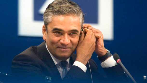 Deutsche Bank - Josef Ackermann stellt im Hermann-Josef-Abs-Saal in Frankfurt zum letzten Mal Bilanz der Bank