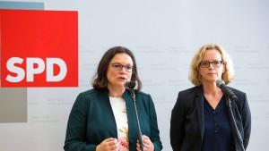 Nahles: Koalitionsbruch steht nicht zur Debatte