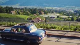 Oldtimer-Rallye in den Bergen