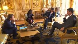 Macrons Hund Nemo macht Pipi in Elysée-Palast