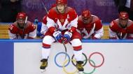 Der Russe Alexander Owetschkin, hier im Trikot der russischen Nationalmannschaft bei den Winterspielen 2014 in Sotschi, hatte sich vehement für eine Teilnahme eingesetzt.