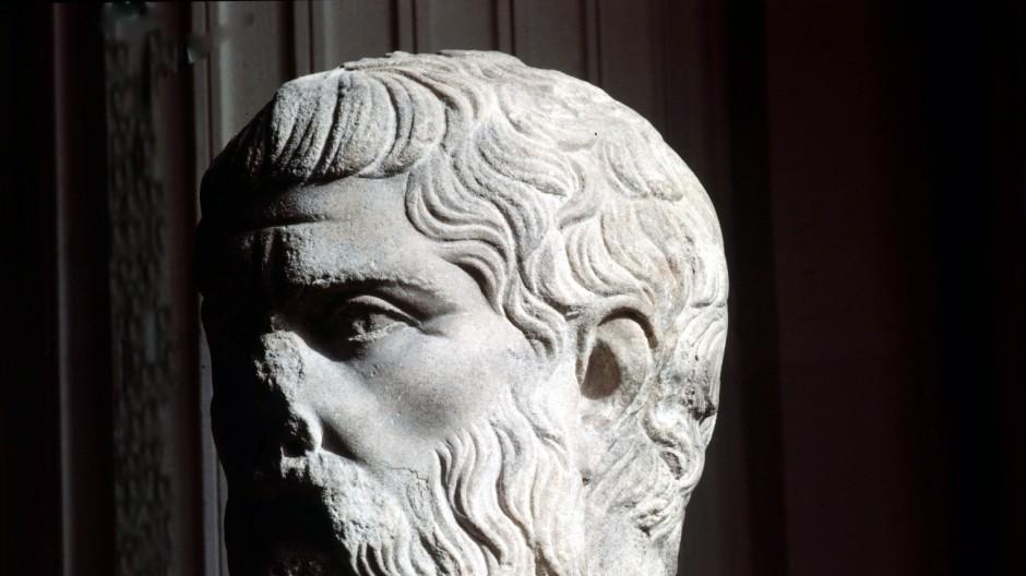 Plötzlich tritt Verständnis in die Seele: Büste Platons im Pariser Louvre