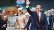Angezogen, angezogener, am angezogensten: Königin Maxima mit Gemahl Willem-Alexander
