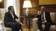 Paul Krugman (rechts) berät Alexis Tsipras